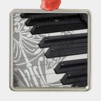ピアノまたは器官の鍵のクリスマスのオーナメント メタルオーナメント