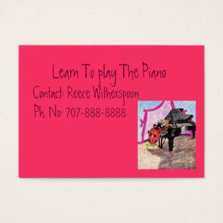 ピアノを弾くために学んで下さい 名刺