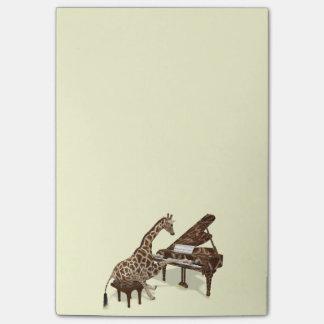 ピアノを弾く甘いキリン愛 ポストイット