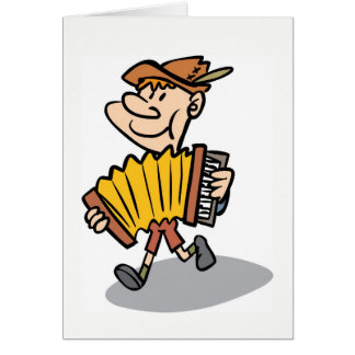 ピアノアコーディオンプレーヤーのnotecard、ミュージシャンカード カード