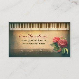 ピアノカスタムな名刺 名刺
