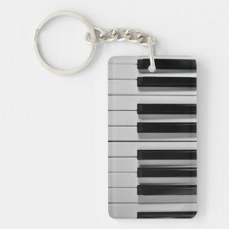 ピアノキーボードのカスタムなキーホルダー キーホルダー