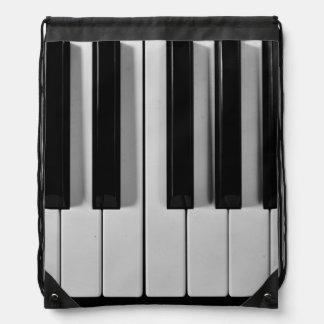 ピアノキーボードのカスタムなドローストリングのバックパック ナップサック