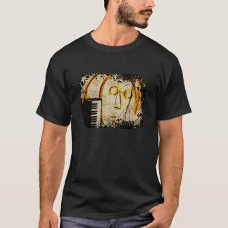 ピアノキーボードのピースマーク Tシャツ
