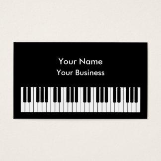 ピアノキーボードの名刺のテンプレート 名刺
