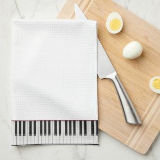 ピアノキーボードタオル キッチンタオル