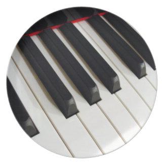ピアノキーボード ディナー皿
