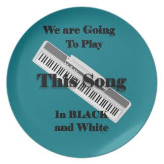 ピアノキーボード プレート