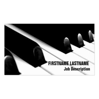 ピアノキーボード 名刺