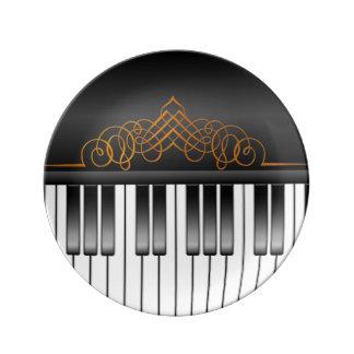 ピアノキーボード 磁器 食器