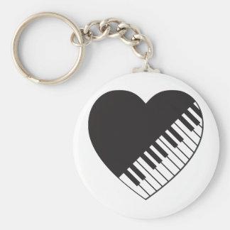 ピアノハート キーホルダー