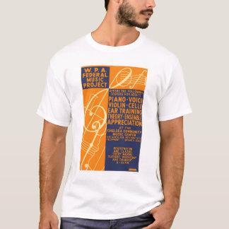 ピアノバイオリンのクラス1939 WPA Tシャツ