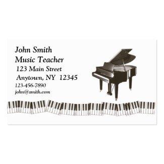 ピアノプロフィールカード ビジネスカードテンプレート