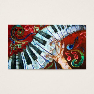 ピアノ名刺のテンプレート1 名刺