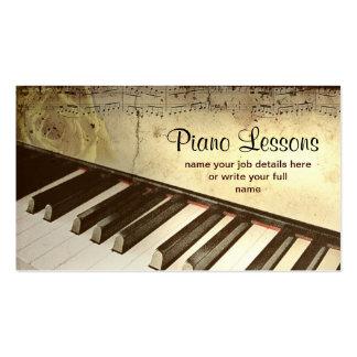 ピアノ名刺 スタンダード名刺