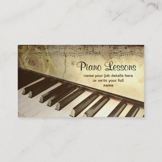 ピアノ名刺 名刺