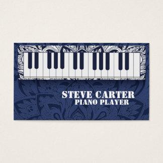 ピアノ奏者の先生の音楽学校の芸術家カード 名刺