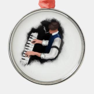 ピアノ歌手 メタルオーナメント