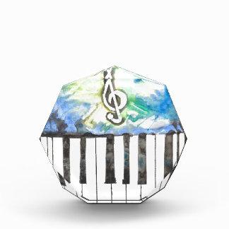 ピアノ水彩画 表彰盾