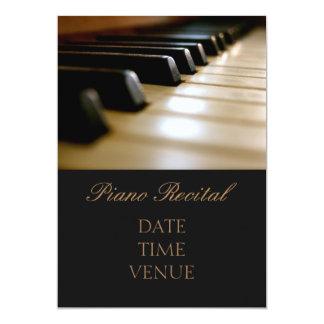 ピアノ演奏会のエレガントでスタイリッシュな性能 カード