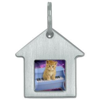 ピアノ猫 ペットネームタグ