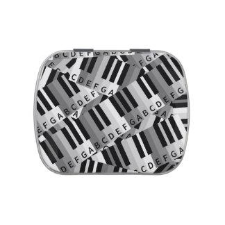 ピアノ鍵によって層にされるパターン 缶入りキャンディー