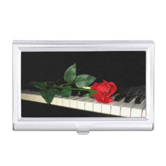 ピアノ鍵の名刺ケースに上がりました 名刺入れ