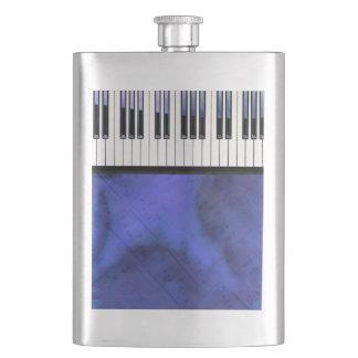 ピアノ鍵の楽譜のモダンなねじれ フラスク