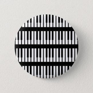 ピアノ鍵パターン 缶バッジ