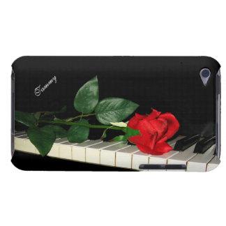 ピアノ鍵及び赤いバラ Case-Mate iPod TOUCH ケース