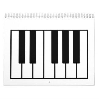 ピアノ鍵 カレンダー