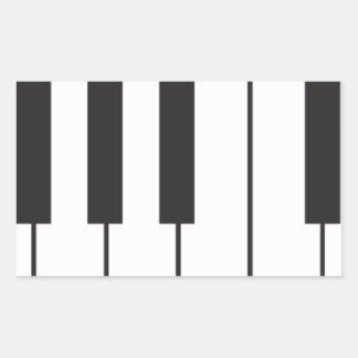 ピアノ鍵 長方形シール