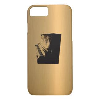ピアノ青銅色の銅効果 iPhone 8/7ケース