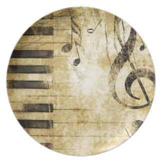 ピアノ音楽ノート プレート