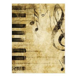 ピアノ音楽ノート ポストカード