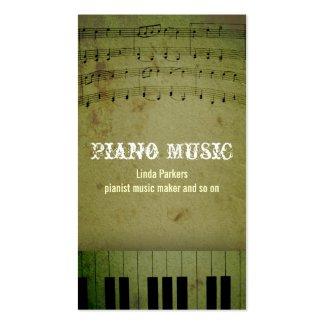 ピアノ音楽業界カード ビジネスカードテンプレート
