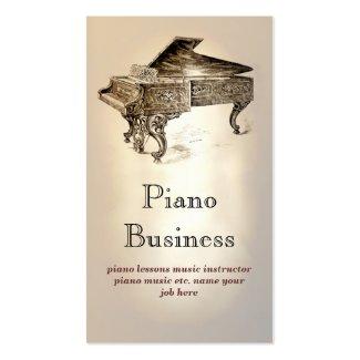 ピアノ音楽業界カード 名刺テンプレート