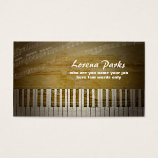 ピアノ音楽業界カード 名刺