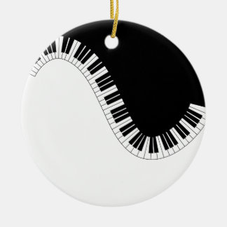 ピアノ音楽 セラミックオーナメント