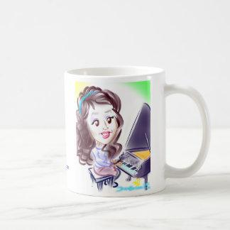 ピアノ風刺漫画のマグDC コーヒーマグカップ