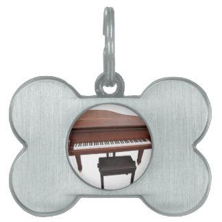 ピアノ ペットネームタグ