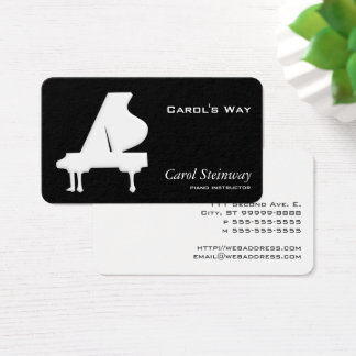 ピアノ 名刺
