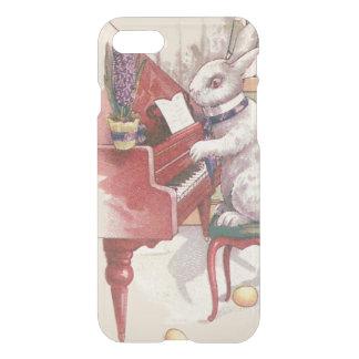 ピアノHyacinthを遊ぶイースターのウサギ iPhone 8/7 ケース