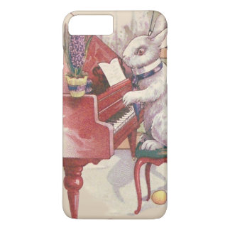 ピアノHyacinthを遊ぶイースターのウサギ iPhone 8 Plus/7 Plusケース