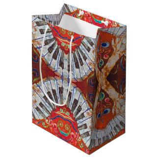 ピアノR4カスタムなギフトバッグ-無光沢媒体 ミディアムペーパーバッグ