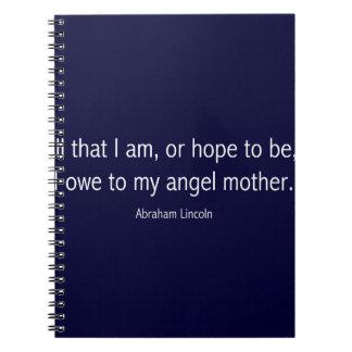 ピエト・モンドリアンのエイブラハム・リンカーンの有名な引用文 ノートブック