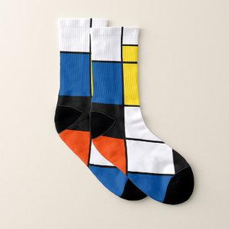 ピエト・モンドリアンの構成A -抽象的な近代美術 ソックス