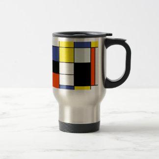 ピエト・モンドリアンの構成A -抽象的な近代美術 トラベルマグ