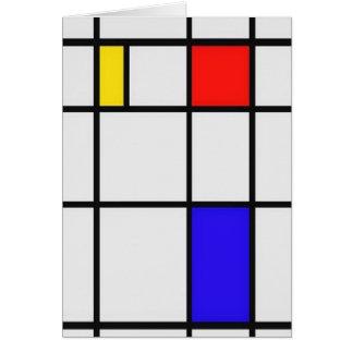 ピエト・モンドリアンの近代美術 カード