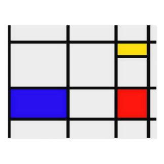 ピエト・モンドリアンの近代美術 ポストカード